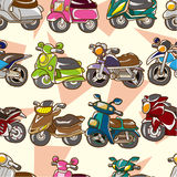 Seamless motorcycle pattern. Illustration Royalty Free Stock Photos