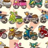 Seamless motorcycle pattern Royalty Free Stock Photos