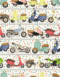 Seamless motorcycle pattern. Drawing Royalty Free Stock Image