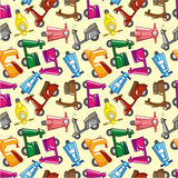 Seamless motorcycle pattern Stock Photos