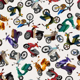 Seamless motorcycle pattern Stock Photography