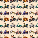 Seamless motorcycle pattern. Cute cartoon vector illusttration Royalty Free Stock Photo