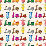 Seamless motorcycle pattern Royalty Free Stock Images