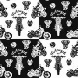 Seamless motorcycle pattern vector illustration Stock Image