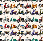 Seamless motorcycles pattern. Vector drawing Stock Photography