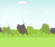 Seamless mountain landscape Royalty Free Stock Image