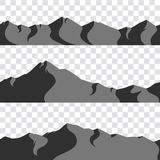 Seamless mountains collection royalty free stock photography