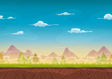 Seamless Mountains Landscape For Ui Game Royalty Free Stock Photos