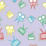 Seamless movie icons Stock Image