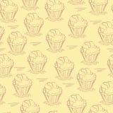 Seamless muffin Arkivfoton