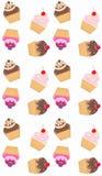 seamless muffinmodell royaltyfri illustrationer