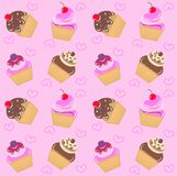 seamless muffinmodell Fotografering för Bildbyråer