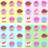 seamless muffinmodell Royaltyfri Fotografi