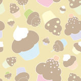 Seamless muffins and cupcakes Stock Image