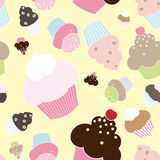 Seamless muffins and cupcakes Stock Images