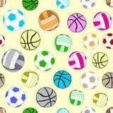 Seamless multi-colored balls Stock Photo