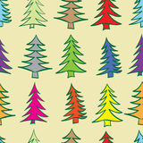 Seamless multi-colored fir-trees Royalty Free Stock Images