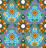 Seamless  multi-colored geometric Moroccan pattern Royalty Free Stock Photo