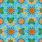 Seamless  multi-colored geometric Moroccan pattern Royalty Free Stock Image