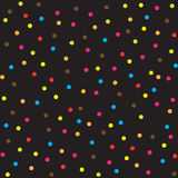 Seamless multicolor dot pattern, vector background Stock Photos