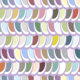 Seamless multicolor elliptical pattern. Seamless pattern, fun and dynamic multicolor elliptic pattern in shades of grey an blue, great wallpaper Stock Photography