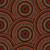 Seamless Multicolor Ethnic Geometric Knitted Patte. Rn. Style Circle Background royalty free illustration