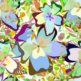 Seamless multicolor floral pattern Royalty Free Stock Photo
