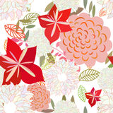 Seamless multicolor floral pattern Royalty Free Stock Image