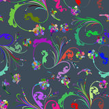 Seamless multicolor floral pattern Stock Images