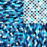 Seamless multicolor geometric tiles pattern royalty free illustration