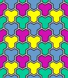 Seamless multicolor mosaic pattern. vector illustration