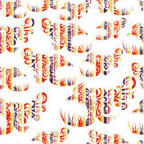 Seamless multicolor pattern with fish. Stock Image