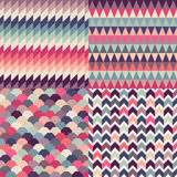 Seamless multicolor tiles background Royalty Free Stock Photography