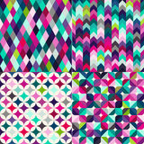 Seamless multicolor tiles background Royalty Free Stock Photo