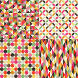 Seamless multicolor tiles background Stock Photo
