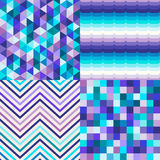 Seamless multicolor tiles textured background Royalty Free Stock Image