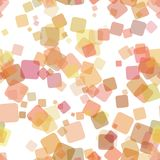 Seamless abstract geometric square pattern background - vector illustration from random rotated squares. Seamless multicolored abstract geometric square pattern Stock Photography