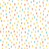 Seamless multicolored baby vector free hand doodle brush strokes texture, ink art. Stock Photography