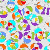 Seamless multicolored circle patterns Stock Image