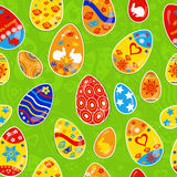 Seamless multicolored pattern of Easter eggs Stock Images