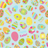 Seamless multicolored pattern of Easter eggs Stock Image