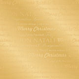 Seamless multilingual christmas pattern (vector) Royalty Free Stock Photos