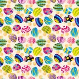 Seamless mushroom pattern Royalty Free Stock Photo