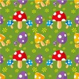 Seamless mushroom pattern Stock Image