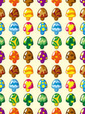 Seamless mushroom pattern Stock Photography