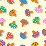 Seamless mushroom pattern Stock Images