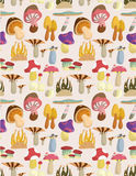 Seamless mushrooms pattern Stock Images