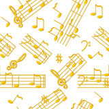Seamless music background Stock Images