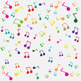 Seamless music background Royalty Free Stock Images