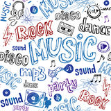 Seamless Music Background. Stock Images